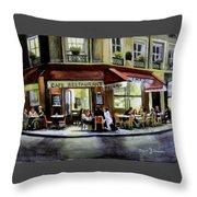 Cafe Regulars Throw Pillow