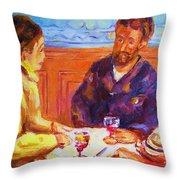 Cafe Renoir Throw Pillow