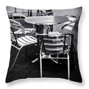 Cafe Seating Throw Pillow