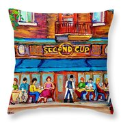 Cafe Second Cup Terrace Throw Pillow