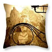 Cafe Sign In Bavarian Alps Throw Pillow