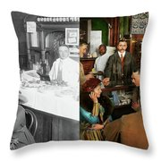 Cafe - Temptations 1915 - Side By Side Throw Pillow