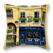 Cafe Van Gogh Throw Pillow