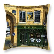 Cafe Van Gogh Paris Throw Pillow by Marilyn Dunlap