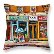 Cafe Yenta And Ma's Place Throw Pillow