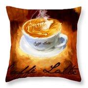 Caffe Latte Throw Pillow