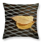 Caged Leaf Throw Pillow