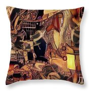 Caged Luxury Syndrome   Throw Pillow