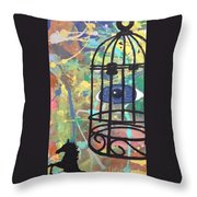 Caged Vision  Throw Pillow
