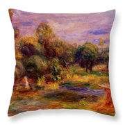 Cagnes Landscape 1908 Throw Pillow