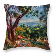 Cagnes Landscape With Woman And Child 1910 Throw Pillow