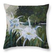 Cahaba Lilies Throw Pillow