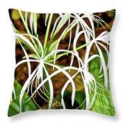 Cahaba Lily In Huntington Botanical Gardens In San Marino-california Throw Pillow