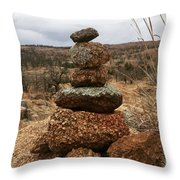 Cairn On The Mountain Throw Pillow