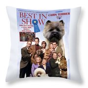 Cairn Terrier Art Canvas Print - Best In Show Movie Poster Throw Pillow