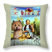 Cairn Terrier Art Canvas Print - The Wizard Of Oz Movie Poster Throw Pillow