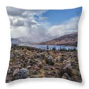 Cairns Of Loch Loyne Throw Pillow