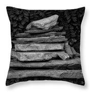Cairns Rock Trail Marker Bluff Utah 01 Bw Throw Pillow