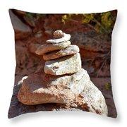 Cairns Rock Trail Marker Colorado Plateau Kanab Utah 01 Throw Pillow