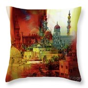 Cairo Egypt Art 01 Throw Pillow