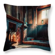 Cairo, Egypt -  Interior Of A Room In The Famous Bayt Al Suhaymi Located At Al Muizz Street In Cairo Throw Pillow