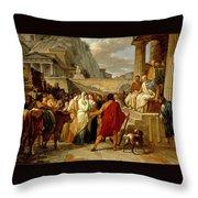Caius Furius Cressinus Accused Of Sorcery Throw Pillow