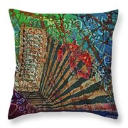 Cajun Accordian Throw Pillow