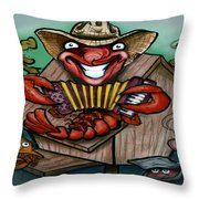 Cajun Critters Throw Pillow