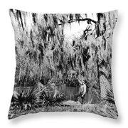 Cajuns Collecting Moss Throw Pillow