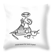 Cake Competitor Throw Pillow