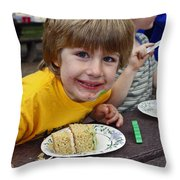 Cake Face Throw Pillow