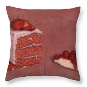 Cakefrontation Throw Pillow by James W Johnson