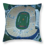 Cal Memorial Stadium Throw Pillow