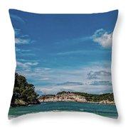 Cala Galdana Bay Menorca Throw Pillow