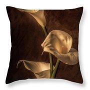 Cala Lilies Throw Pillow