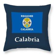 Calabria, Italy Flag And Name Throw Pillow