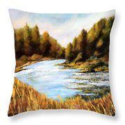 Calapooia River Throw Pillow