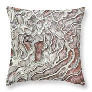 Calcium Deposits From Thermal Springs, Pamukkale - Turkey  Throw Pillow
