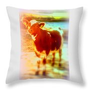 This Calf Has A Hope For A Long And Happy Life But How And When Will It End   Throw Pillow