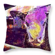 Calf Cow Maverick Farm Animal Farm  Throw Pillow