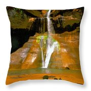 Calf Creek Falls Utah Throw Pillow