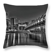 Calgary Peace Bridge Throw Pillow