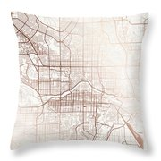 Calgary Street Map Colorful Copper Modern Minimalist Throw Pillow