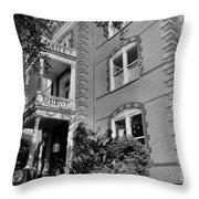 Calhoun Mansion Black And White Throw Pillow