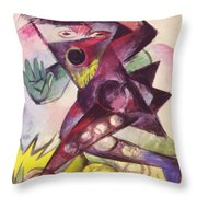 Caliban From Shakespeare The Tempest 1914 Throw Pillow
