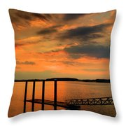 Calibogue Dock Throw Pillow
