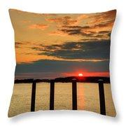 Calibogue Sound Sunset Throw Pillow