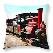 Calico And Odessa Rail Road Throw Pillow