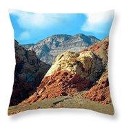 Calico Basin Nevada Throw Pillow