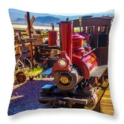 Calico Ghost Town Train Throw Pillow